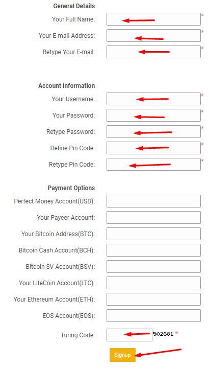 3deposit - регистрация на проекте