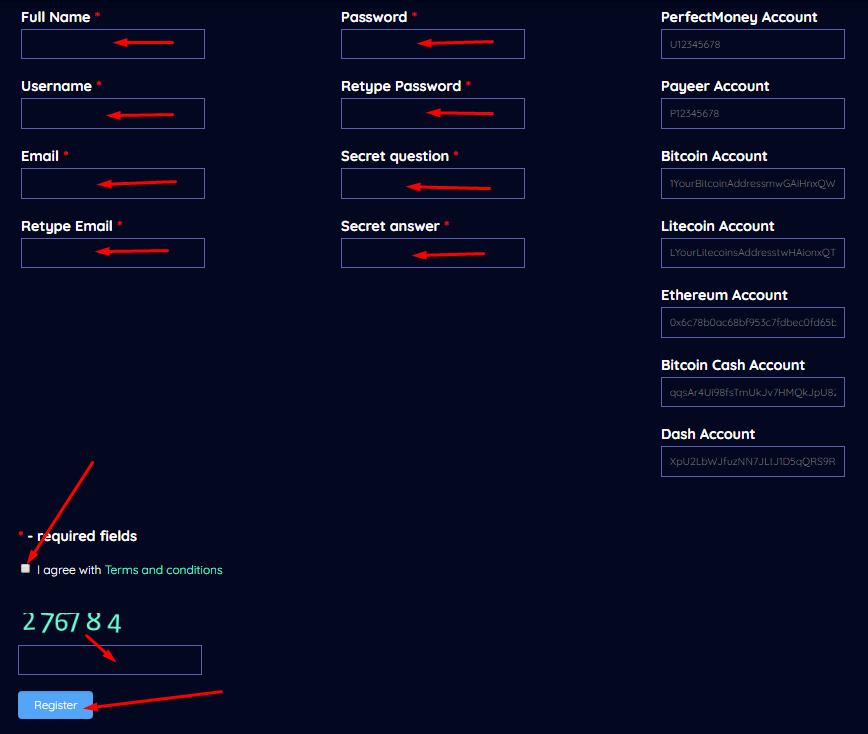 Bsfinance - Регистрация на проекте