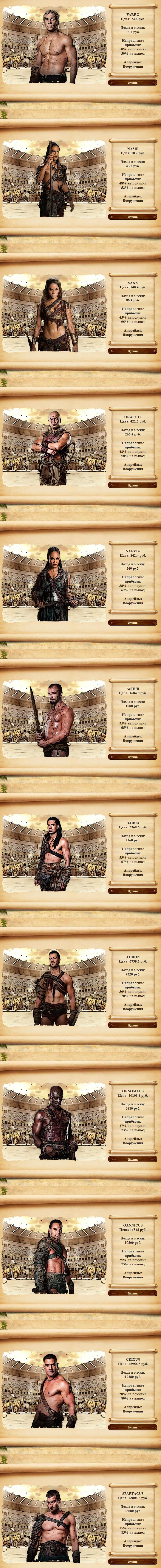 «ГЛАДИАТОРЫ» играй и зарабатывай! - economic-game-gladiators.store - Маркетинг игры