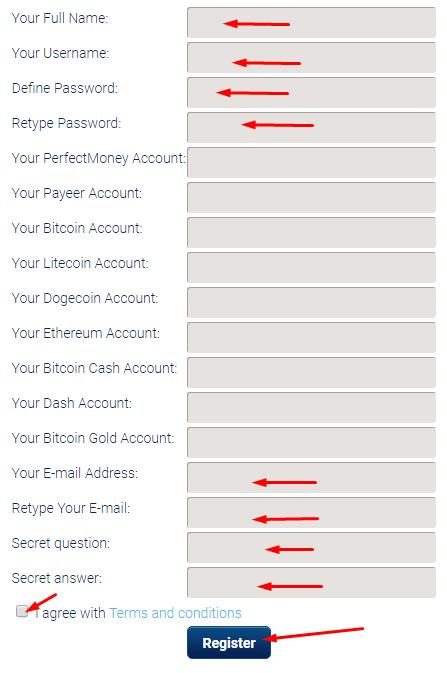 Trustpaybtc - регистрация на проекте