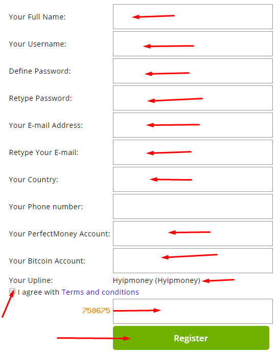 Usdsolve - регистрация на проекте