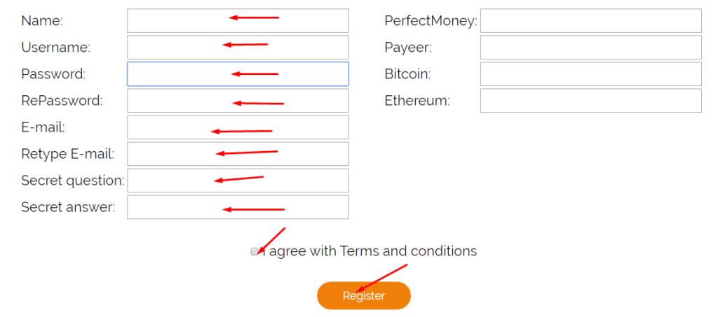 Thebotworkshop - регистрация на проекте