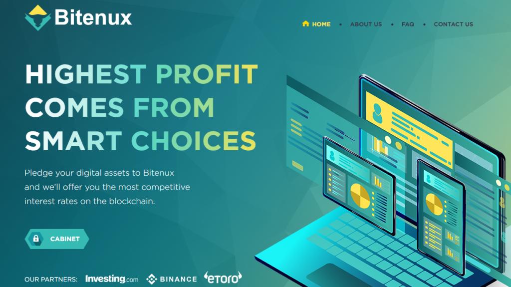 Bitenux - Среднедоходный инвестиционный проект bitenux.com