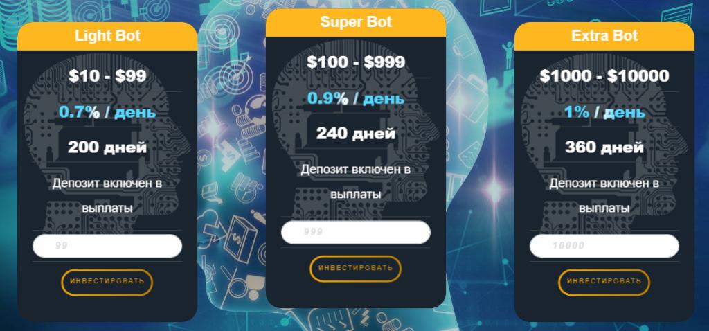 Intel Bot - Среднедоходный хайп проекта