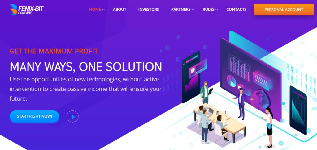 Fenix-bit.com - Обзор инвестиционного проекта