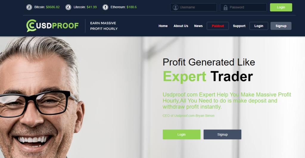Usdproof.com - Обзор хайпа с почасовыми планами