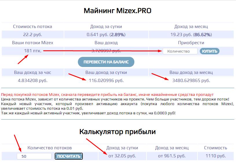 Mizex.pro - Маркетинг проекта