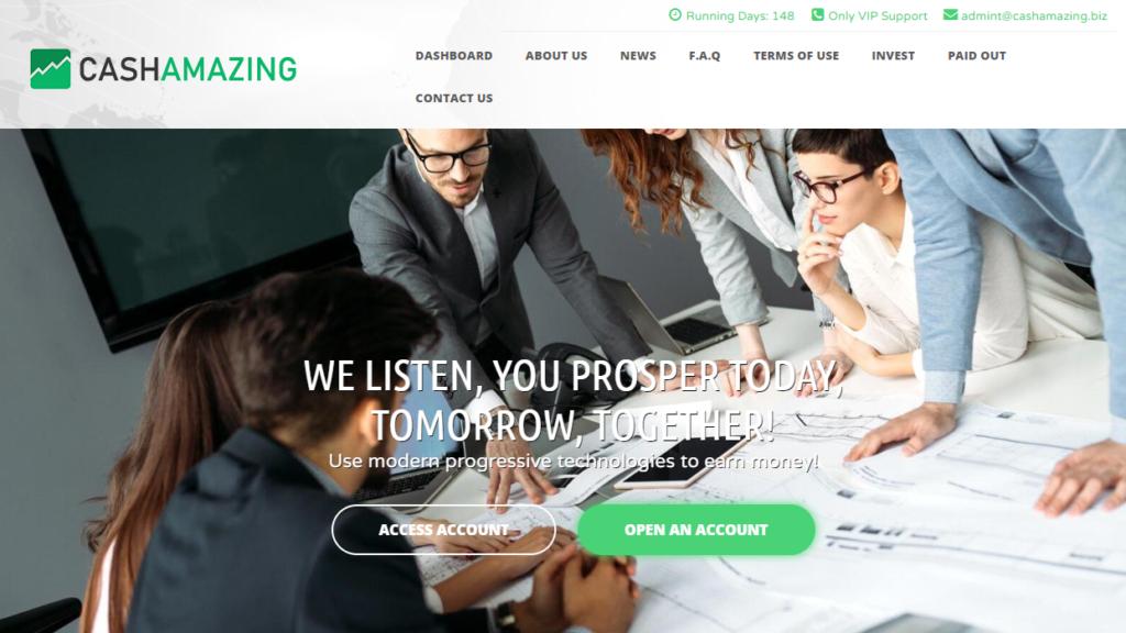 Cashamazing.biz - Среднедоходный инвестиционный проект