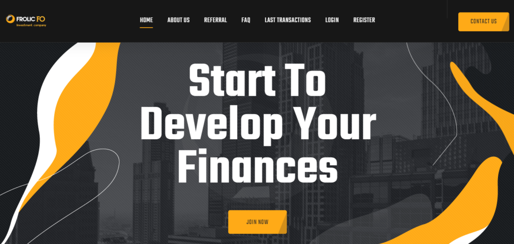 Frolic-fo.com - Среднедоходный инвестиционный проект с бессрочными планами