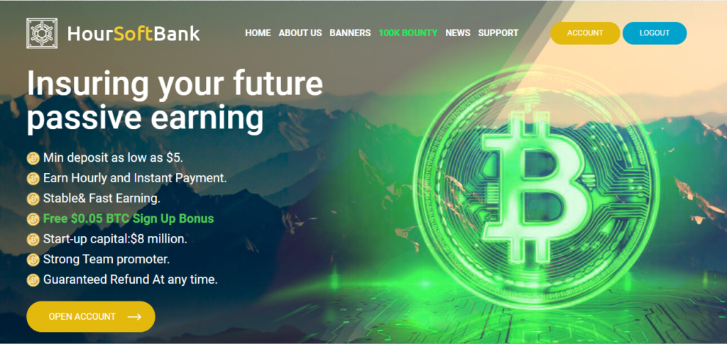 Hoursoftbank.com - Обзор инвестиционного проекта