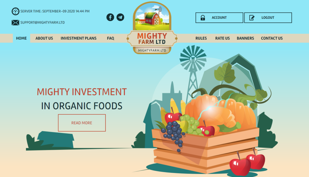 Mightyfarm.ltd - Среднедоходный хайп проект