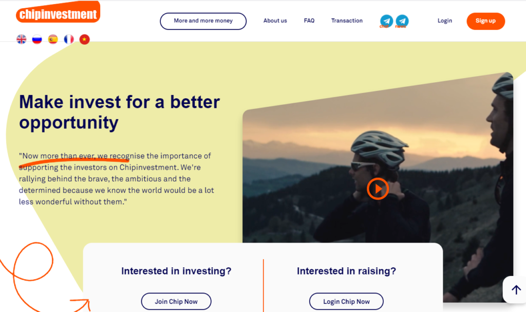 Chipinvestment - Инвестиционный хайп проект