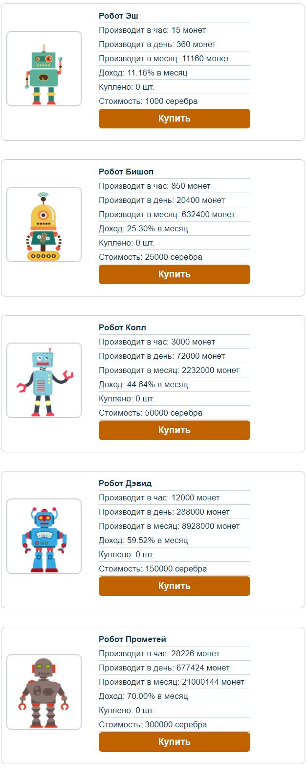 Robots - Аккаунт - Купить Робот - robots-money.biz - маркетинг
