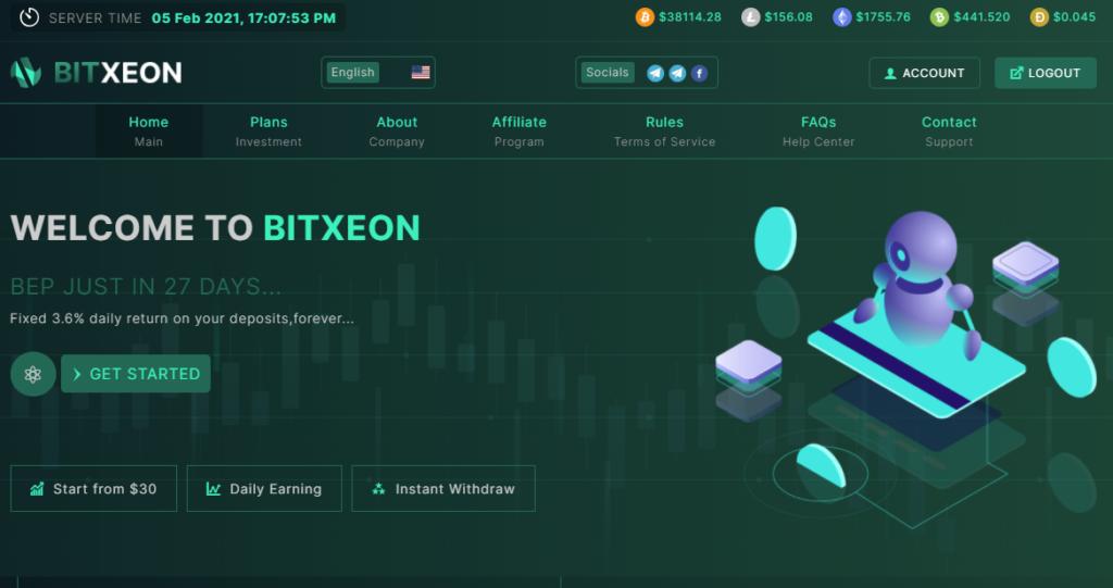 Bitxeon.io - Высокодоходный хайп проект